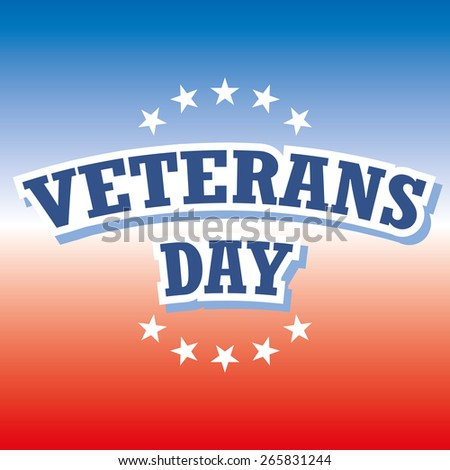 veterans day america banner red and blue background vector illustration