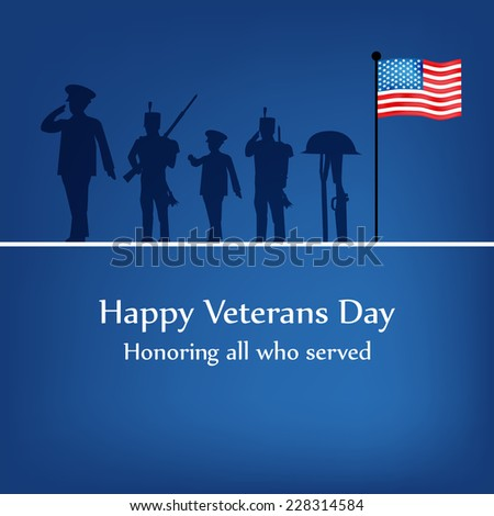Veterans Day Background - stock vector