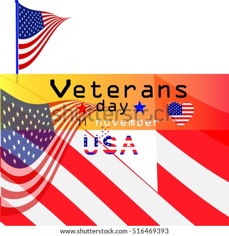 Veterans day background. Text veterans day 11 th november