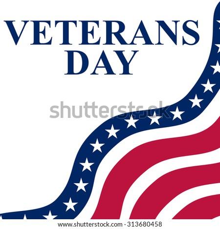 Veterans Day in the US - stock vector