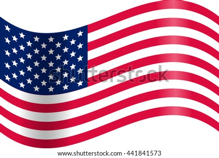 Veterans day USA  Waving American flag. Vector Illustration. Veterans day USA Stripes and Stars
