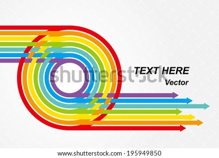Vibrant colors arrow - stock vector