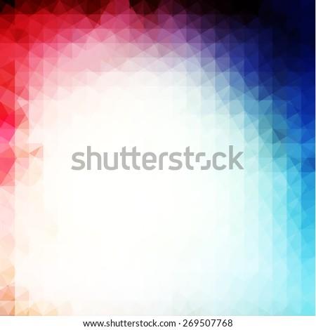 Vibrant geometric background - eps10 vector - stock vector