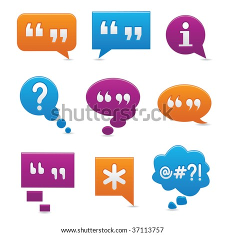 Vibrant, smooth-style bubbles symbolizing communication - stock vector