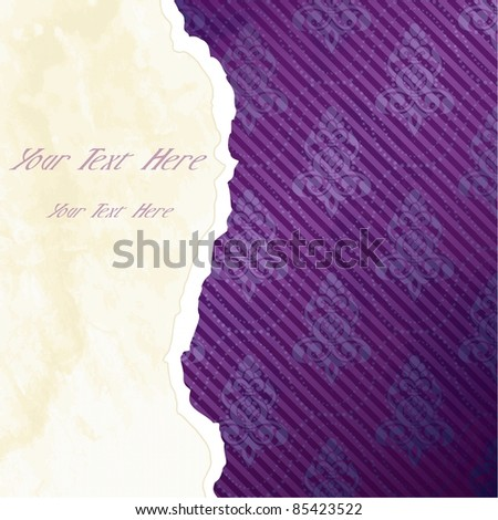Vibrant Victorian wallpaper banner (eps10);  jpg version also available - stock vector