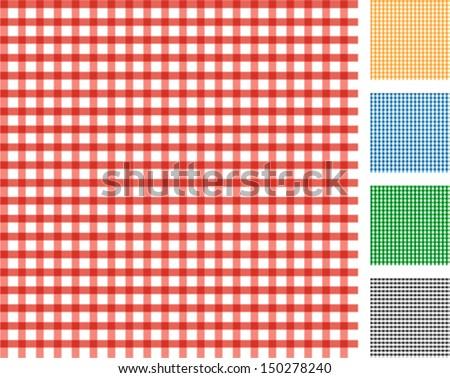 Vichy seamless pattern - stock vector