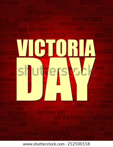 Victoria Day with same text on red gradient background.