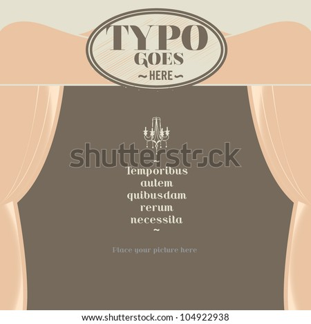victorian and gothic background template vector - stock vector