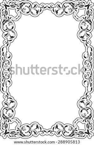 Victorian Art Ornate Scroll Frame On Stock Photo (Photo, Vector ...