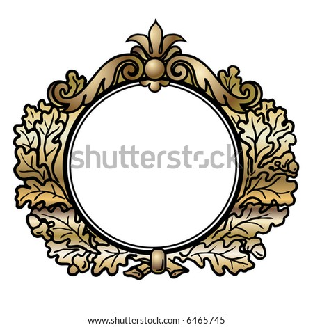 Mesmerizing vector round frame photographs