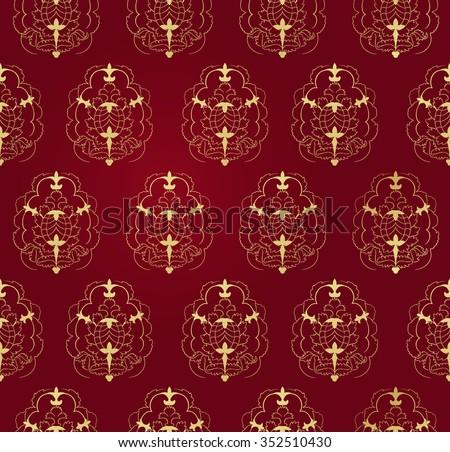 Victorian  vector pattern - stock vector