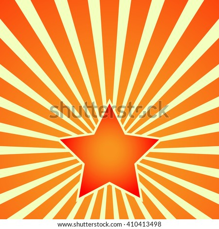 Victory Day. Red Star on the background of the rays. Postcard, placard, poster - vector illustration. EPS 10. - stock vector