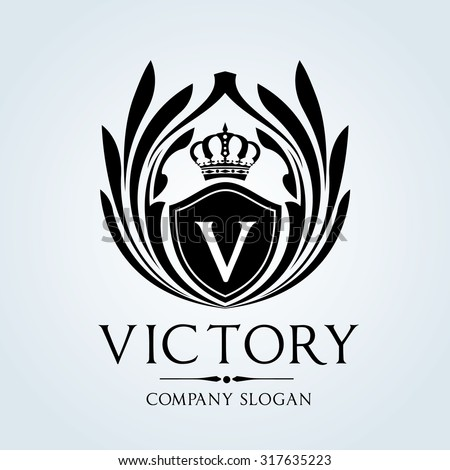 victory luxury vintage crest logo template stock vector 317635223