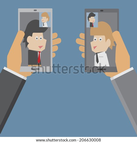 Video Call - stock vector