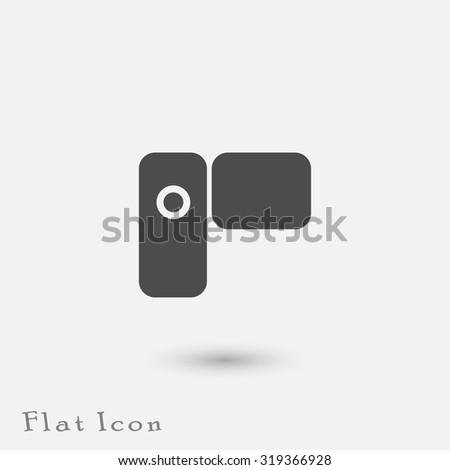 Video camera icon. - stock vector