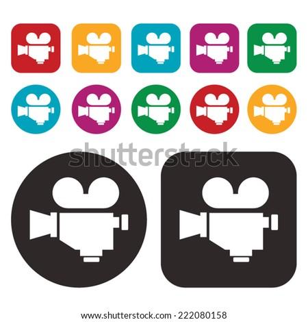 Video camera icon. Film Camera icon - stock vector