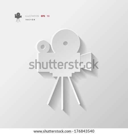 Video camera icon. Media symbol. - stock vector
