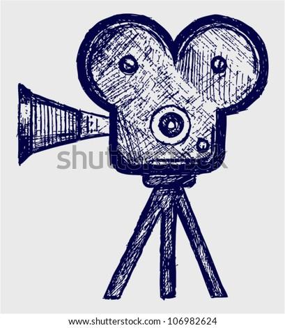 Кинокамера рисунок