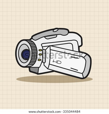 video camera theme elements vector,eps
