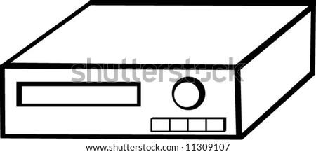 Video Recorder Vector Video Cassette Recorder