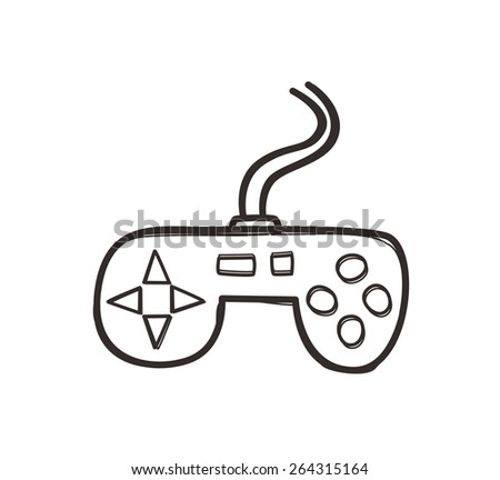 video game console - stock vector