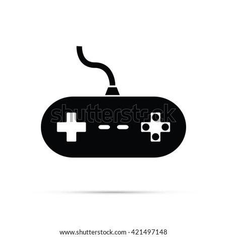 Video Game Controller Icon - stock vector