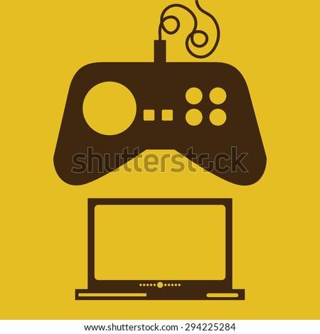 Video game digital design, vector illustration eps 10 - stock vector