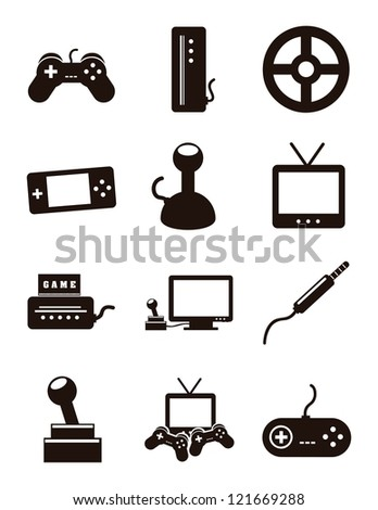 Video Game Icon Transparent Video game icons over whiteVideo Game Icon Transparent