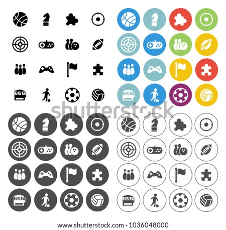 Video Game Icons Set Computer Play Stock Vector Royalty Free