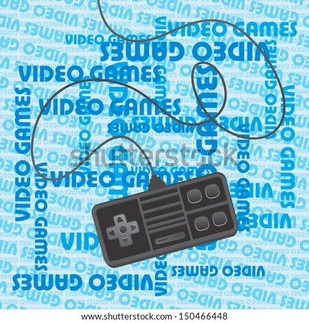 video game theme blue art page - stock vector