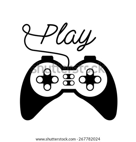 Video Games design over white background, vector illustration
