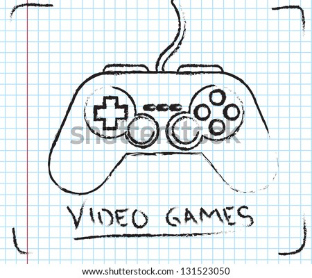 Video games over squares background vector illustration - stock vector