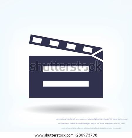 video icon - stock vector