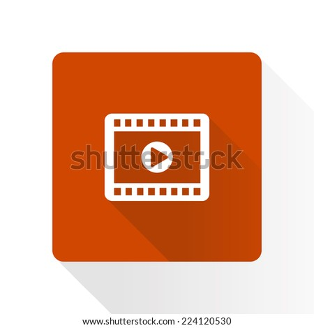 Video icon. Flat design style. Vector EPS 10. - stock vector
