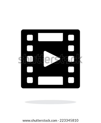 Video icon on white background. Vector illustration. - stock vector