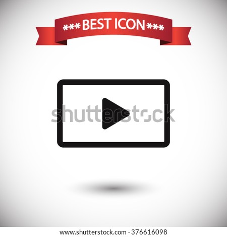 Video icon vector - stock vector