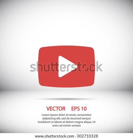 Video play icon vector eps 10  - stock vector