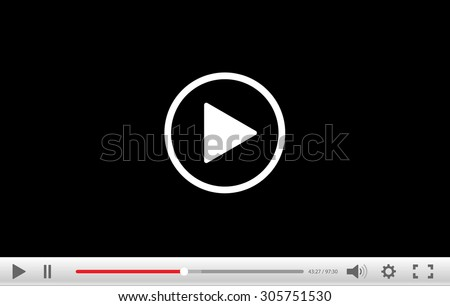Video Player Stock Vector 305751530