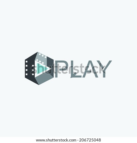 video player icon - stock vector