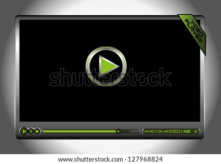 video player icon vector art - stock vector