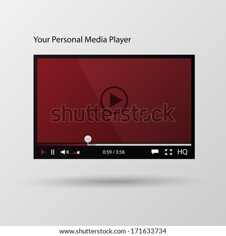 Video player interface. - stock vector
