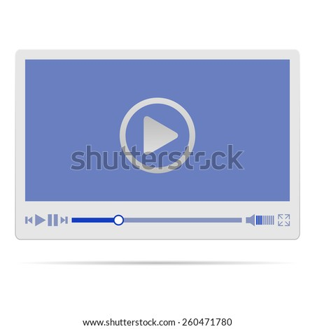 Video player interface. Vector illustration. - stock vector