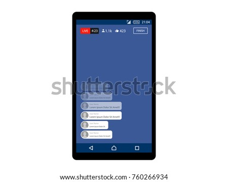 Video streaming on smartphone. Watch online videos poster suitable for info graphics, presentation or advertising. Vector illustration.