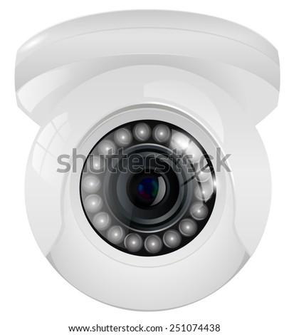 Video surveillance camera. Vector illustration.  - stock vector