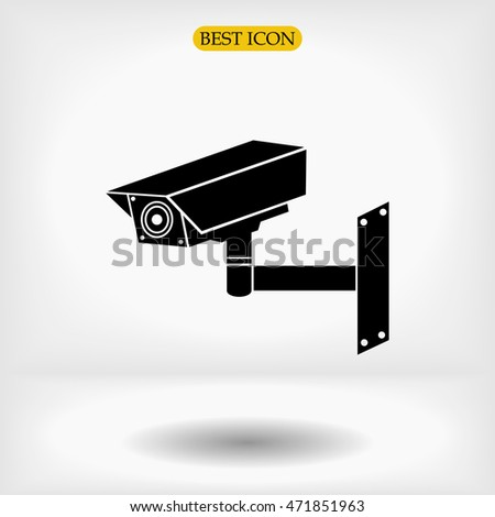 Video surveillance sign. CCTV Camera vector