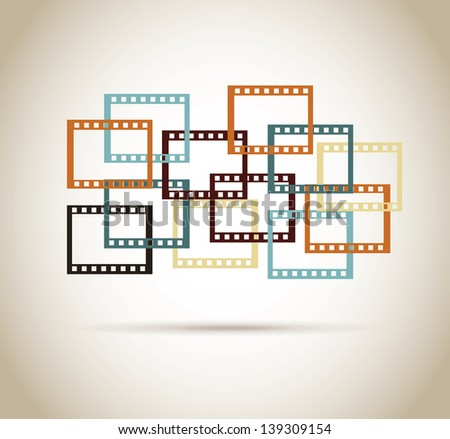video tape design over vintage background vector illustration - stock vector