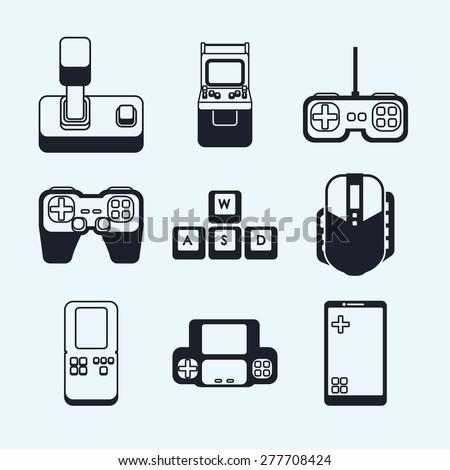 Videogames design over white background, vector illustration. - stock vector