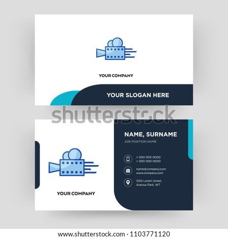 Videography business card design template visiting stock vector videography business card design template visiting for your company modern creative and clean reheart Gallery