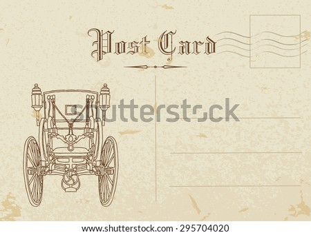 vienna. post card  - stock vector