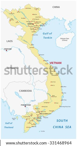 Vietnam Map Stock Images RoyaltyFree Images Vectors Shutterstock - Map of china and vietnam